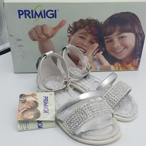 PRIMIGI Girls sandals silver in color sz8.5